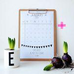 january – printable calendar