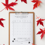 november – printable calendar