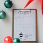 december – printable calendar
