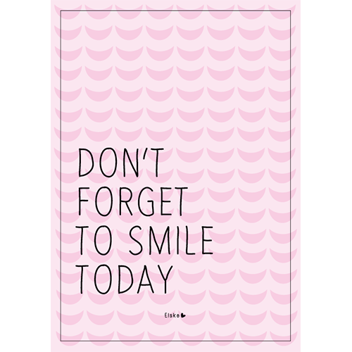 don't forget to smile kaart