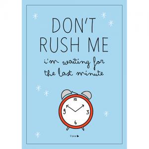don't rush me poster