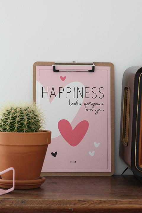 houten klembord met poster
