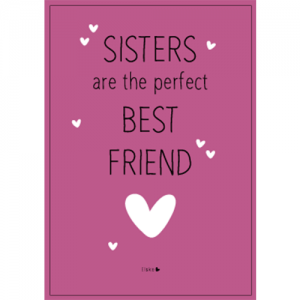 sisters are the perfect best friends ansichtkaart