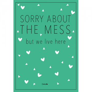 sorry about the mess poster