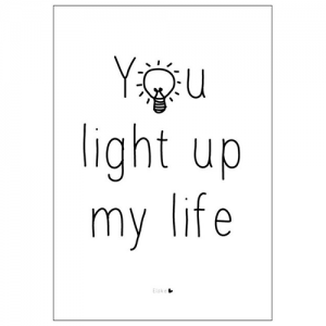 you light up poster