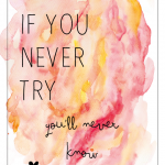 If you never try