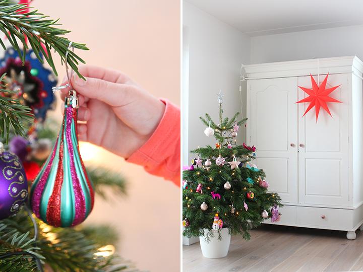 kleur in de kerstboom