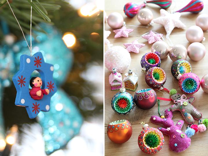 gekleurde kerstballen