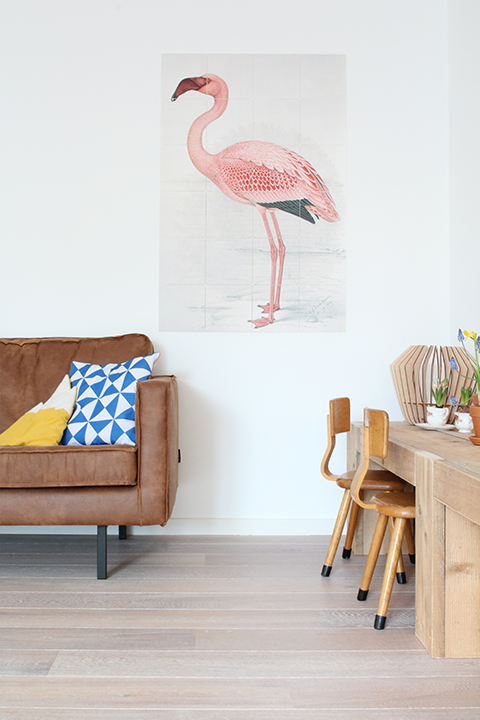 cognac leren bank ixxi flamingo