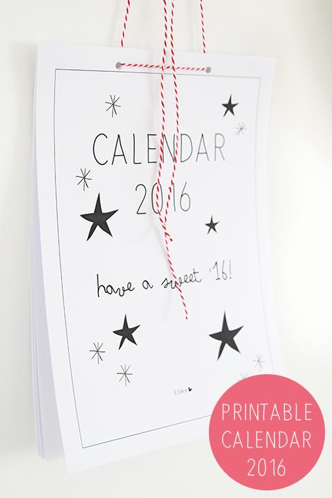 kalender 2016 - printable