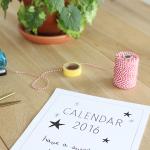 Kalender 2016 – printable