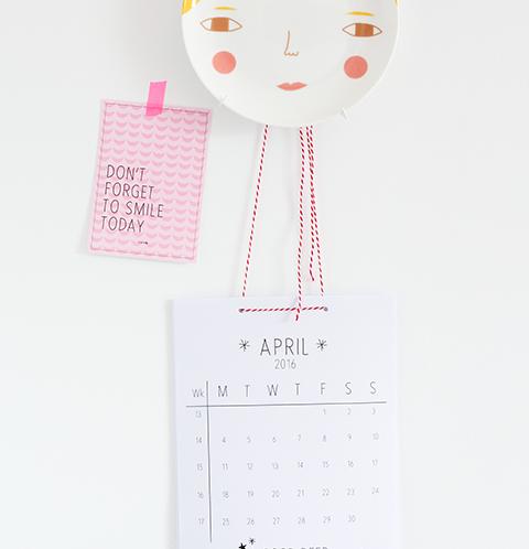 Printbare maandkalender april