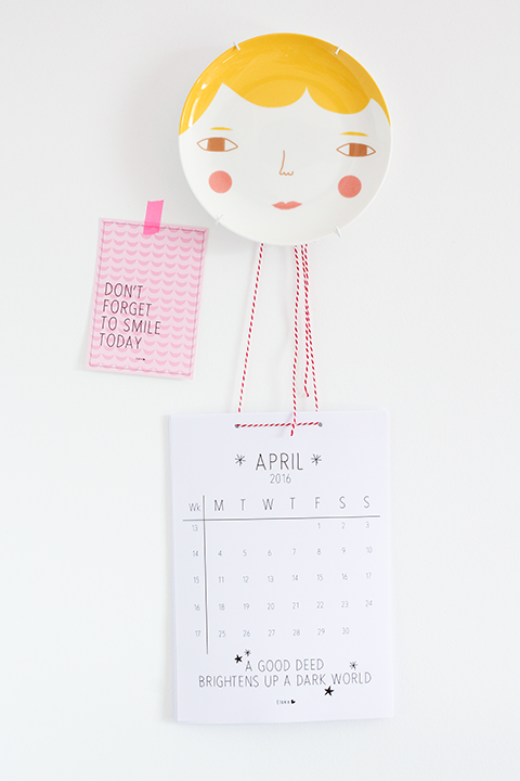 Printbare maandkalender april