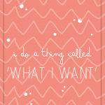 What I want – wallpaper