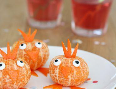 gezonde traktatie met mandarijnen