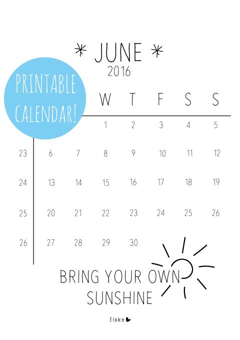 gratis printable kalender