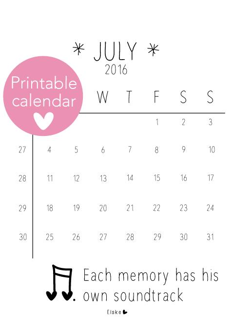 free printable kalender