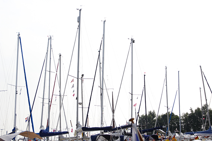 Boten in de haven