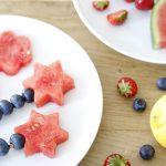 Snelle snack met zomerfruit