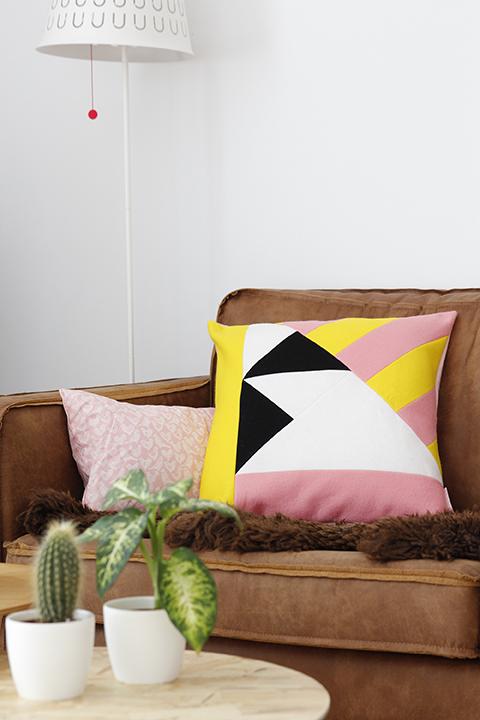 geometrisch patroon kussen