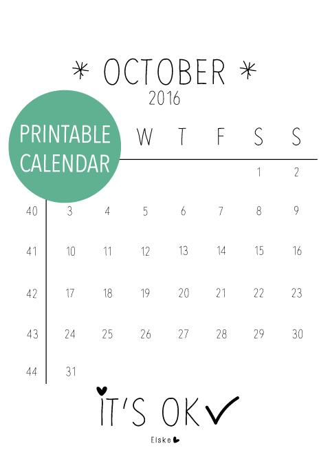 maandkalender printen