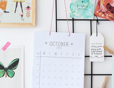 printable calendar october