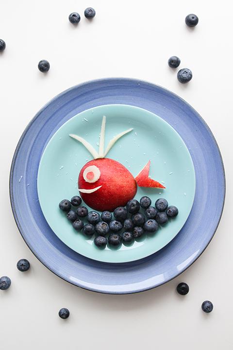 kunstwerk van fruit op je bord