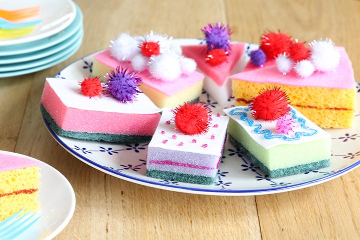 taartjes maken van sponzen